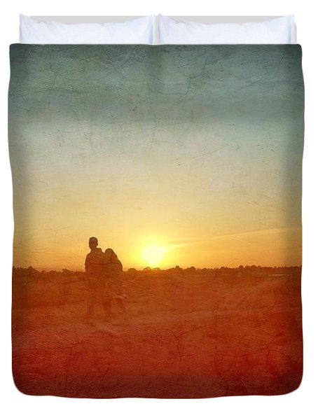 Baylands Sunset Duvet Cover