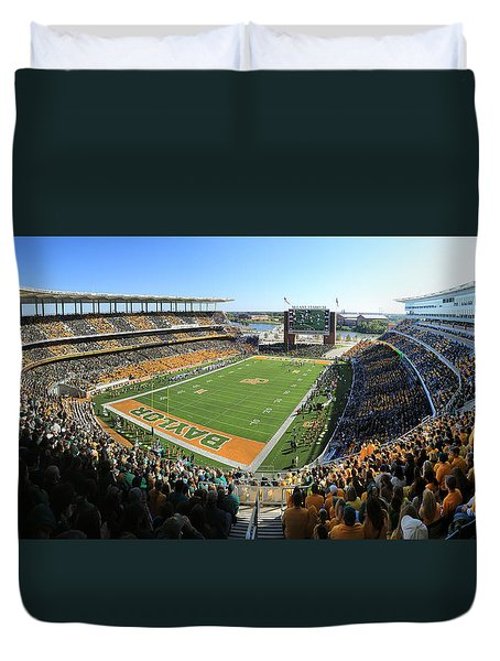 Baylor Gameday No 5 Duvet Cover by Stephen Stookey