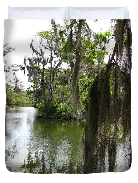 Duvet Cover featuring the photograph Bayou by Beth Vincent