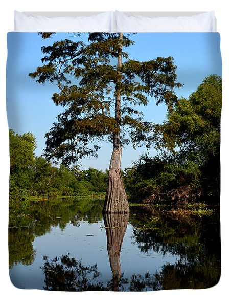 Bayou Reflections Duvet Cover by Maggy Marsh
