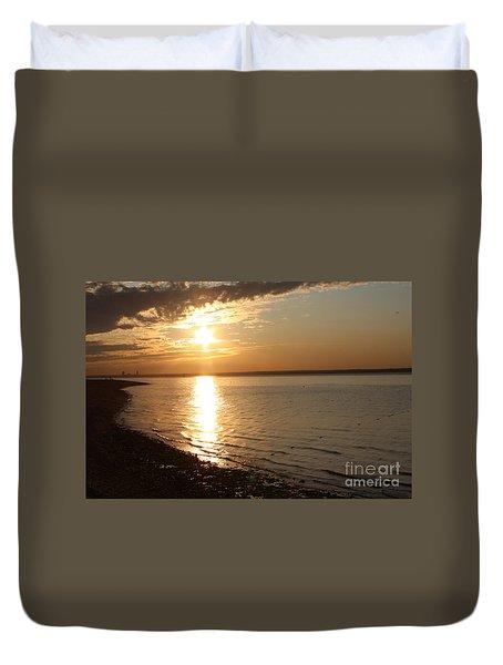 Bayville Sunset Duvet Cover by John Telfer