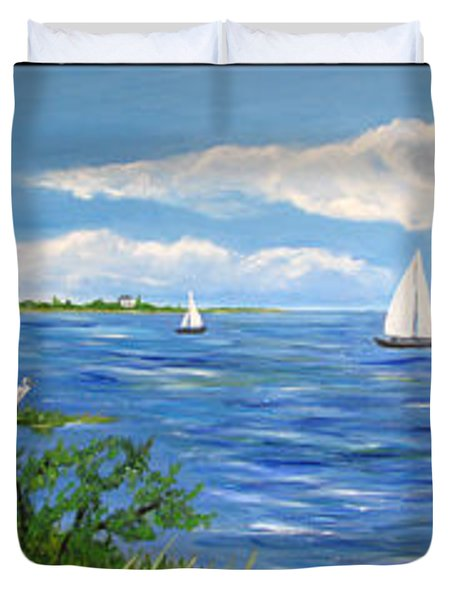 Bayville Trio Duvet Cover by Clara Sue Beym