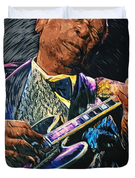 B.b. King Duvet Cover by Taylan Apukovska