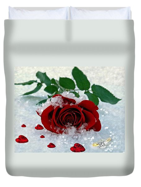 Be Mine Duvet Cover by Morag Bates