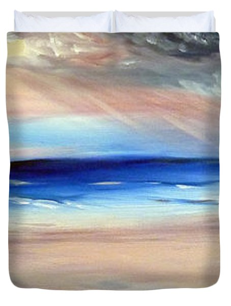 Duvet Cover featuring the painting Be Near by Meaghan Troup