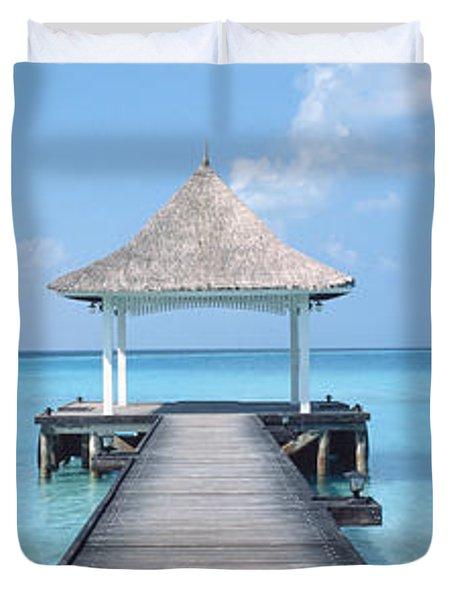 Beach & Pier The Maldives Duvet Cover