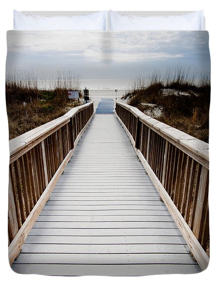 Beach Access Hilton Head Duvet Cover
