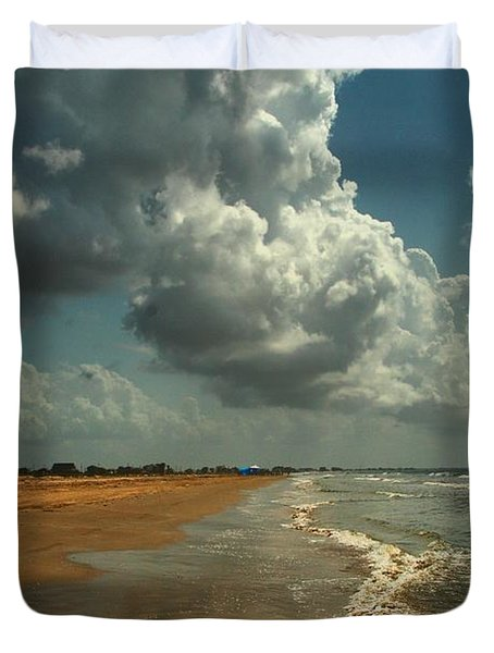 Beach And Clouds Duvet Cover