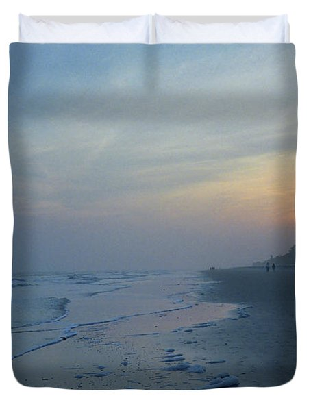 Beach And Sunset Duvet Cover