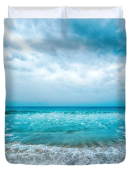 Beach And Waves Duvet Cover