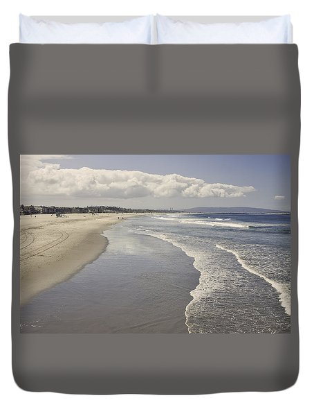 Beach At Santa Monica Duvet Cover