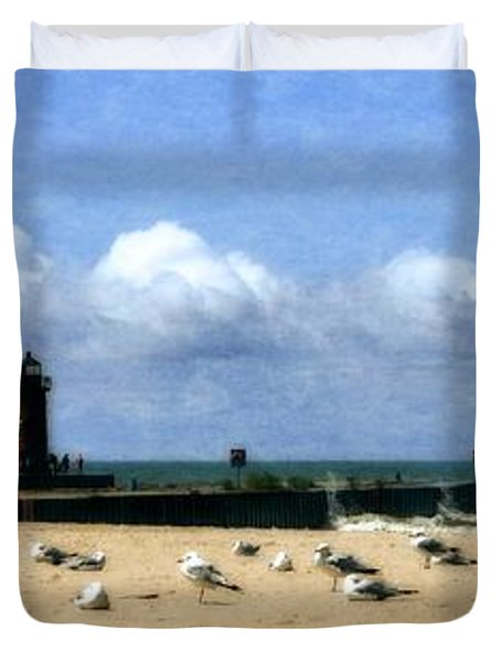 Beach At South Haven  Duvet Cover
