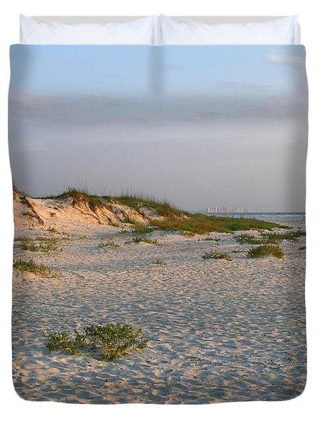 Beach At Sunrise Duvet Cover