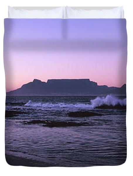 Beach At Sunset, Blouberg Beach, Cape Duvet Cover