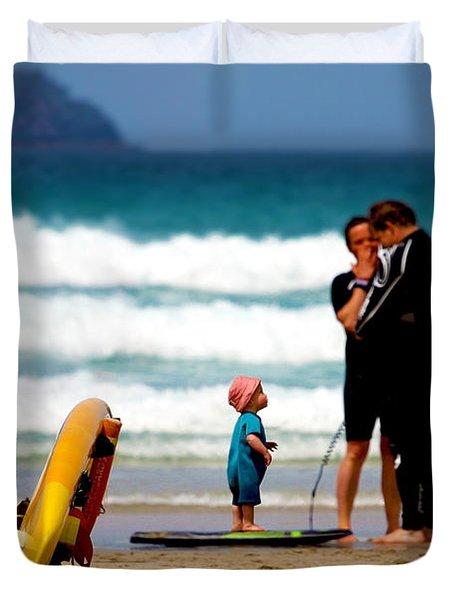 Beach Baby Duvet Cover by Terri Waters
