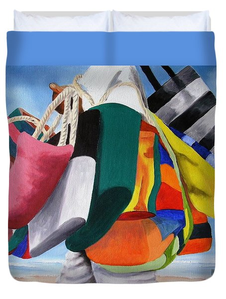 Beach Bag Vendor Duvet Cover