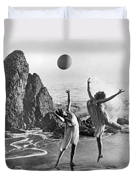 Beach Ball Dancing Duvet Cover