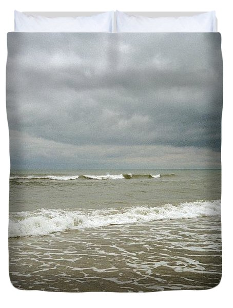 Beach Before The Storm Duvet Cover