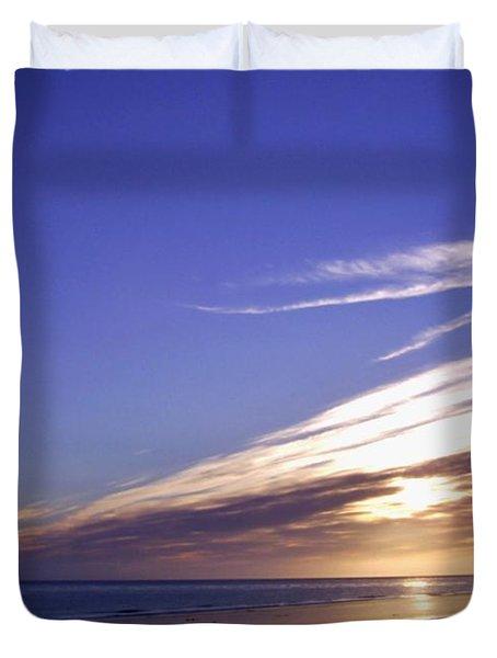 Beach Blue Sunset Duvet Cover by Barbara St Jean