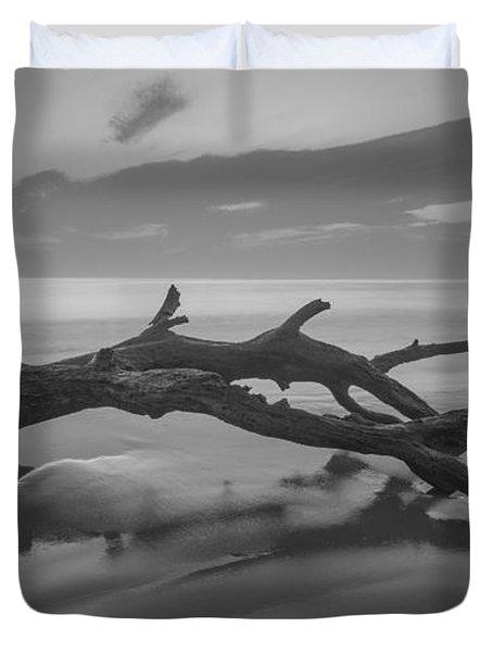 Beach Bones Duvet Cover by Debra and Dave Vanderlaan