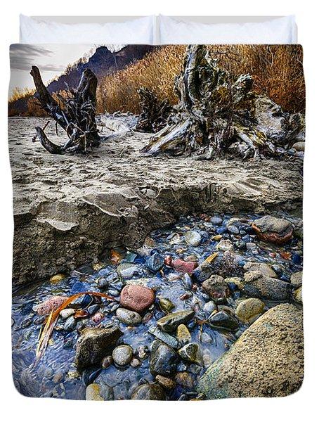 Beach Brook At Scarborough Bluffs Duvet Cover by Elena Elisseeva