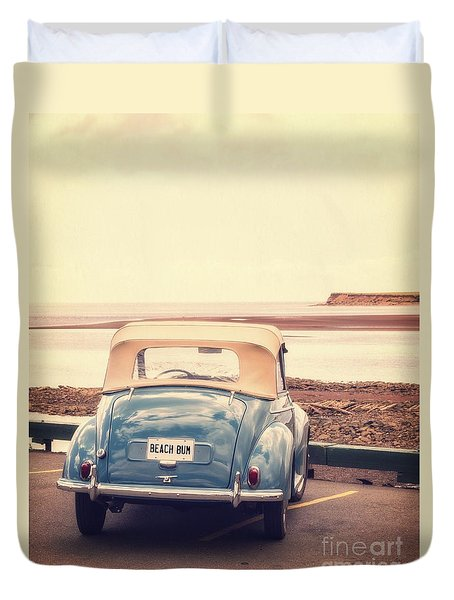 Beach Bum Duvet Cover by Edward Fielding