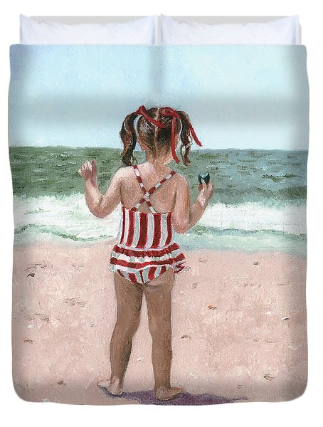Beach Buns Duvet Cover