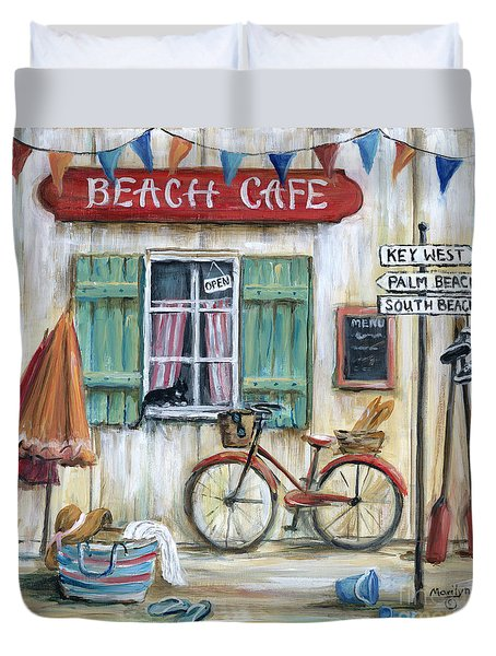 Beach Cafe Duvet Cover