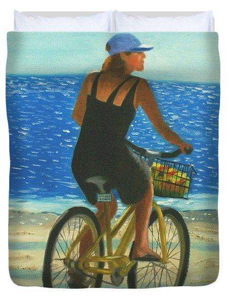 Beach Cruiser Duvet Cover