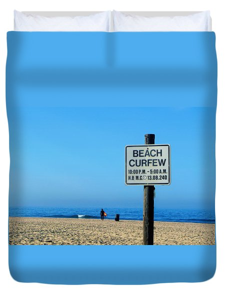 Beach Curfew Duvet Cover by Tammy Espino
