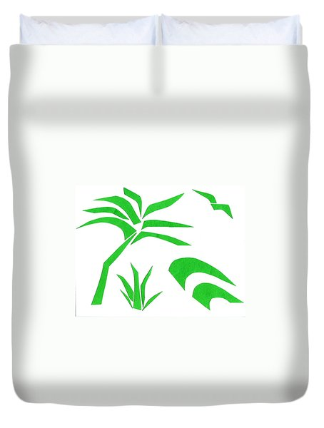 Beach Duvet Cover by Delin Colon
