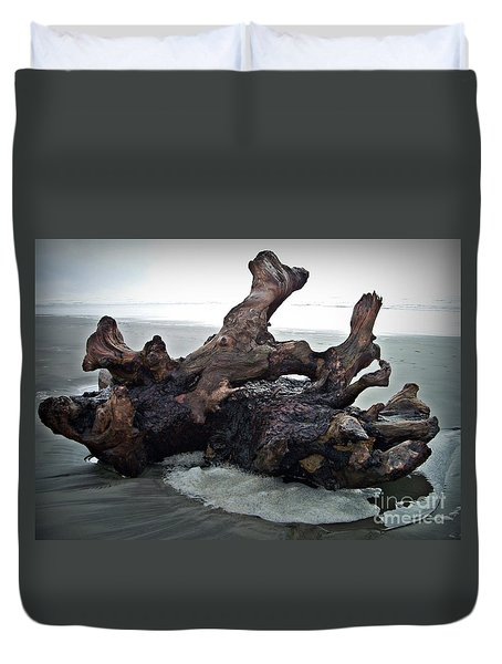 Beach Driftwood In Color Duvet Cover by Chalet Roome-Rigdon