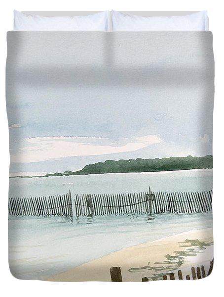Beach Fence Duvet Cover