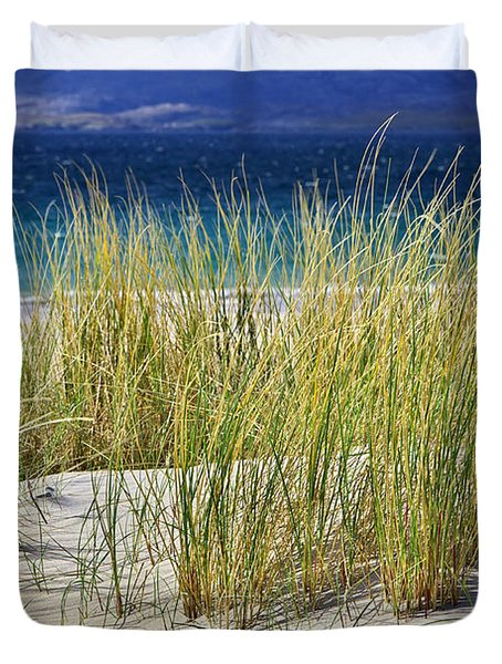 Duvet Cover featuring the photograph Beach Gras by Juergen Klust