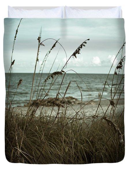 Beach Grass Oats Duvet Cover