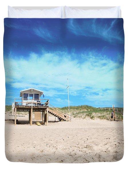 Beach Guard - Sylt Duvet Cover by Hannes Cmarits