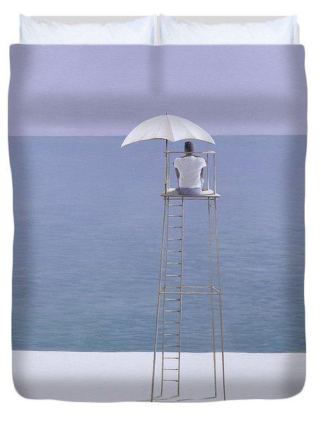 Beach Guard Duvet Cover