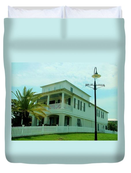 Beach House - Bay Saint Louis Mississippi Duvet Cover