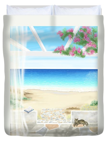 Beach House Duvet Cover by Veronica Minozzi