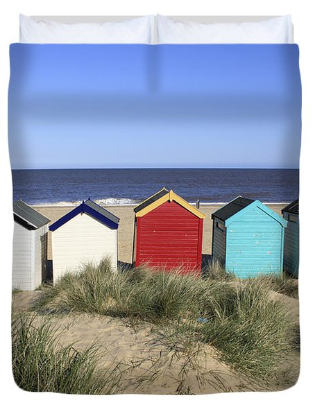 Southwold Beach Huts Uk Duvet Cover