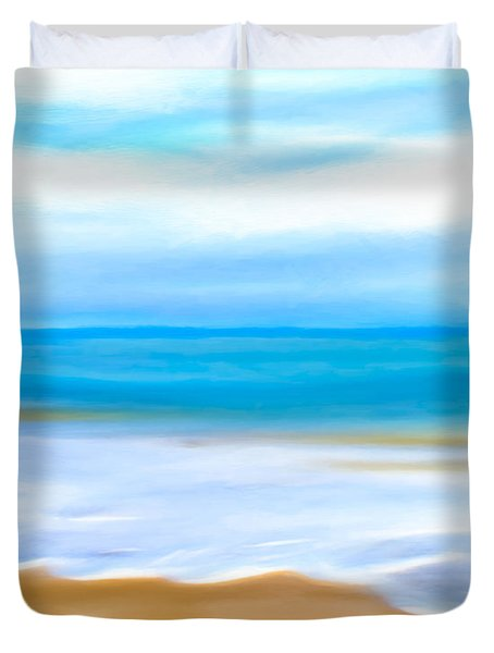 Beach Memories Duvet Cover by Mark E Tisdale