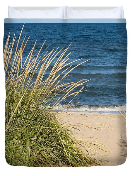 Beach Path Duvet Cover by Barbara McMahon