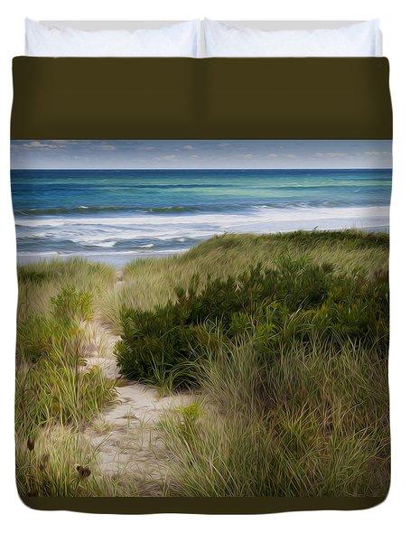 Beach Path Duvet Cover by Bill Wakeley
