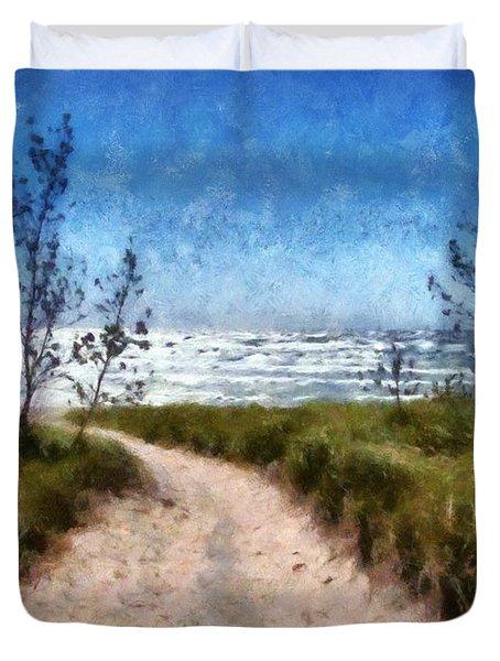 Beach Path Duvet Cover by Michelle Calkins