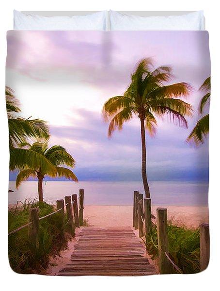 Beach Path Duvet Cover