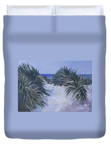 Beach Pathway Duvet Cover by Mary Hubley
