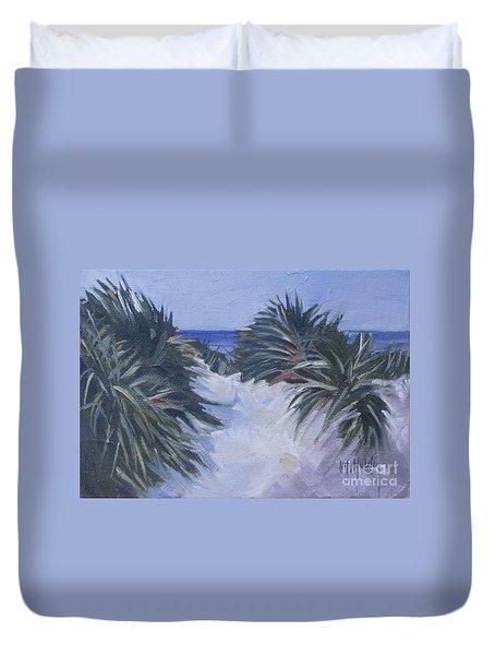 Beach Pathway Duvet Cover