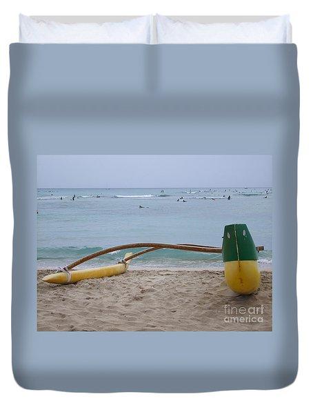 Beach Play Duvet Cover by Mary Deal