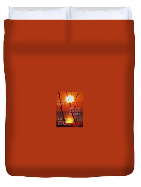 Duvet Cover featuring the photograph Beach Quote by Nikki McInnes