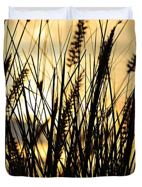 Beach Rise Duvet Cover by Laura Fasulo
